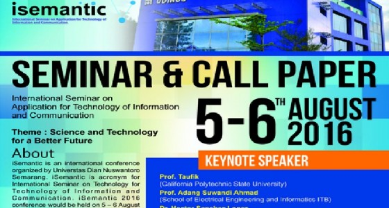 iSemantic 2016: Seminar & Call Paper